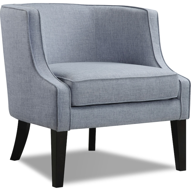 Living Room Furniture - Bradley Accent Chair - Blue
