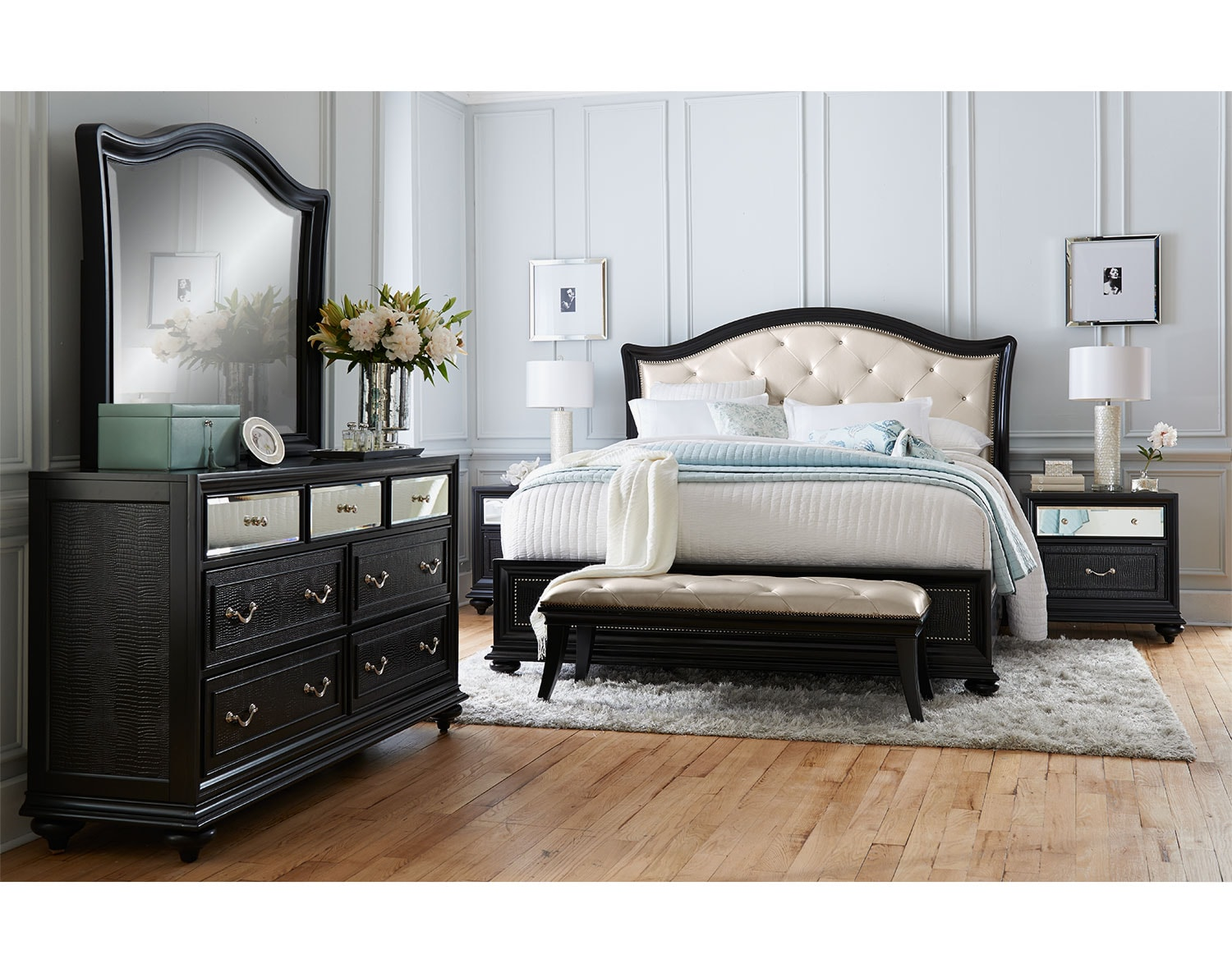 the marilyn collection ebony bedroom furniture brands