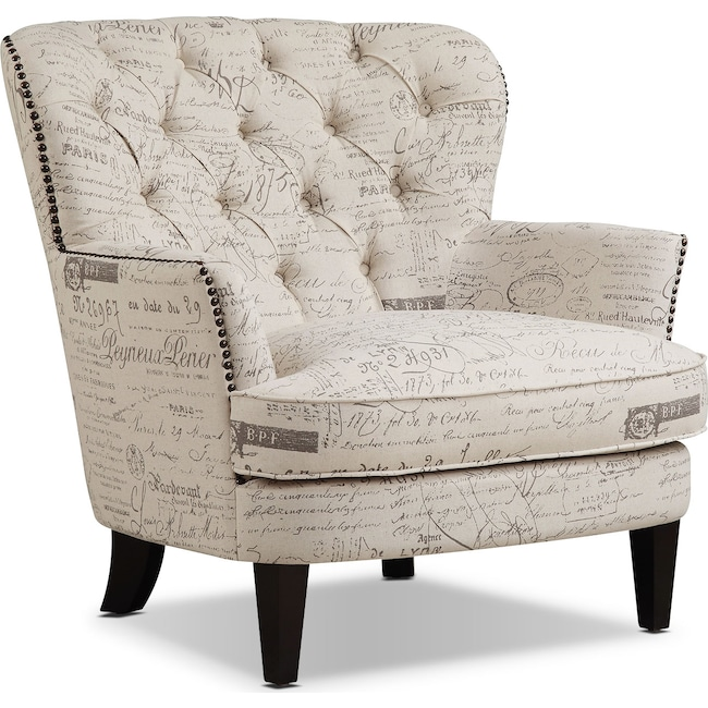 Living Room Furniture - Bayfield Accent Chair - Beige