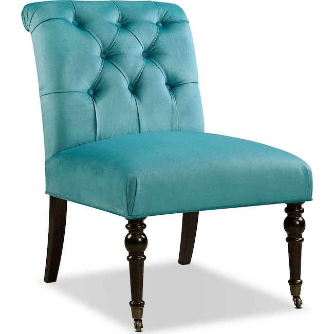 Dining Room Furniture - Poppy Accent Chair - Blue