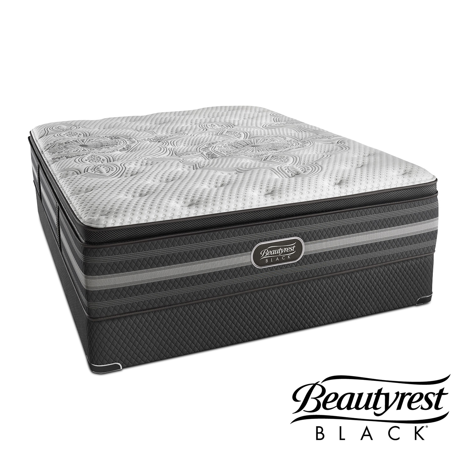 Mattresses and Bedding - Katarina Luxury Firm King Mattress and Split Low-Profile Foundation Set