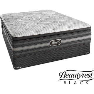 Katarina Luxury Firm King Mattress and Split Low-Profile Foundation Set