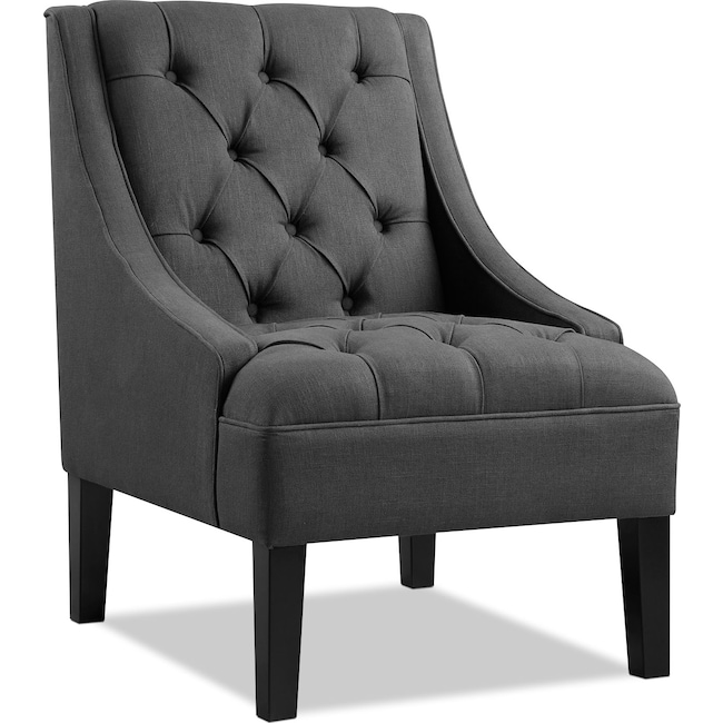 Living Room Furniture - Greylin Accent Chair - Gray