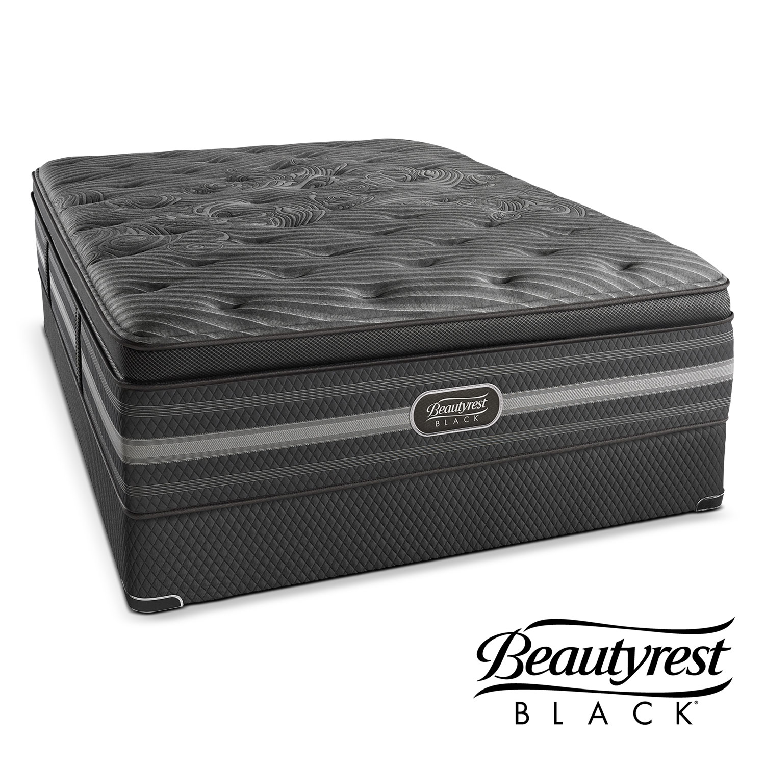 Natasha Plush California King Mattress and Split Foundation Set