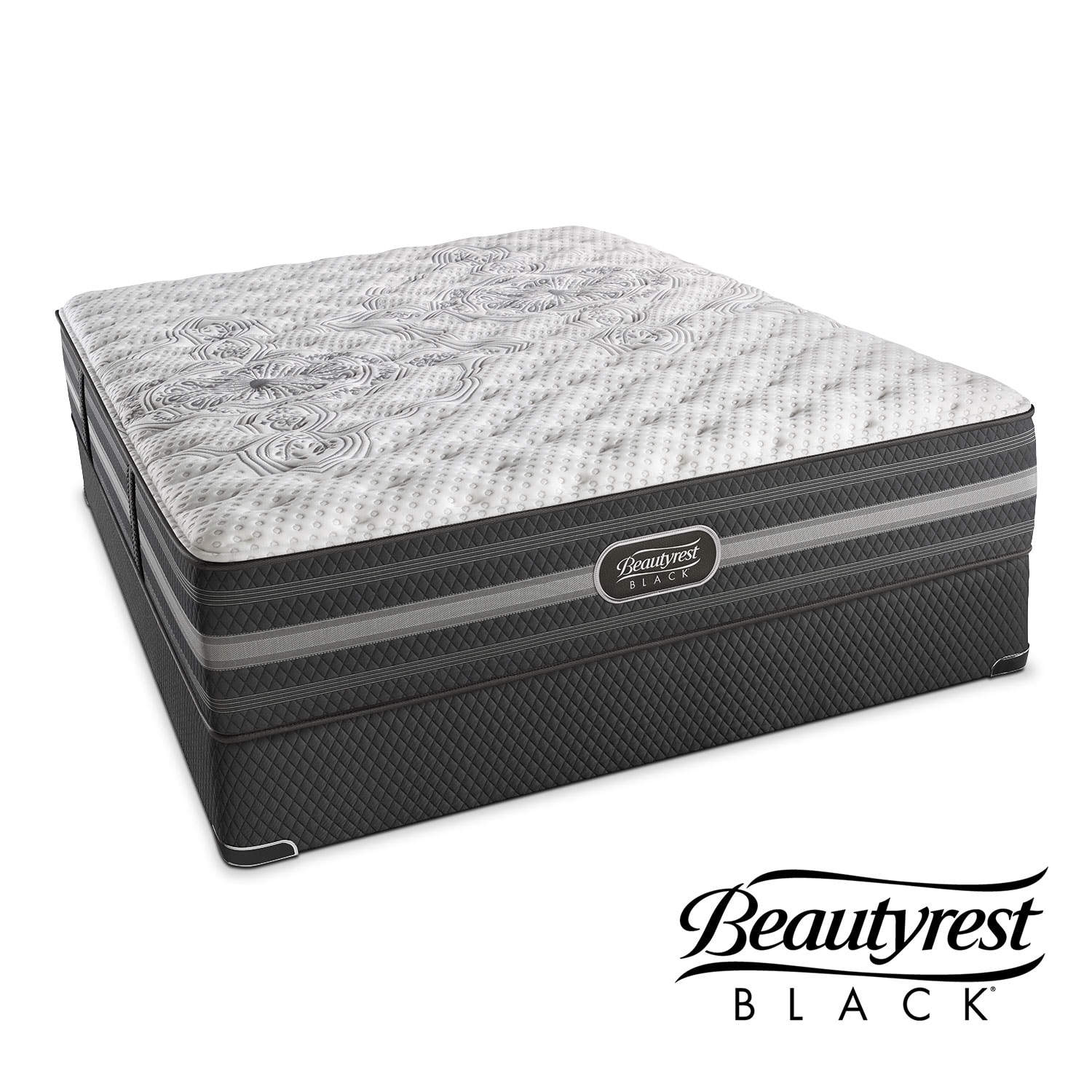 Calista Extra-Firm Queen Mattress and Low-Profile Foundation Set
