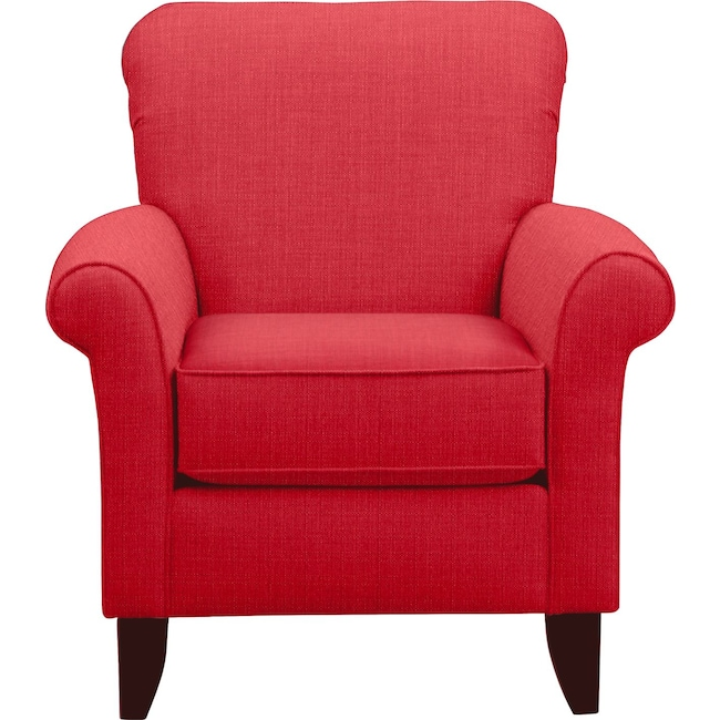 Living Room Furniture - Tracy Chair w/ Depalma Cherry Fabric