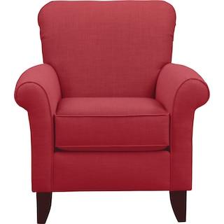 Tracy Chair w/ Oakley III Tomato Fabric