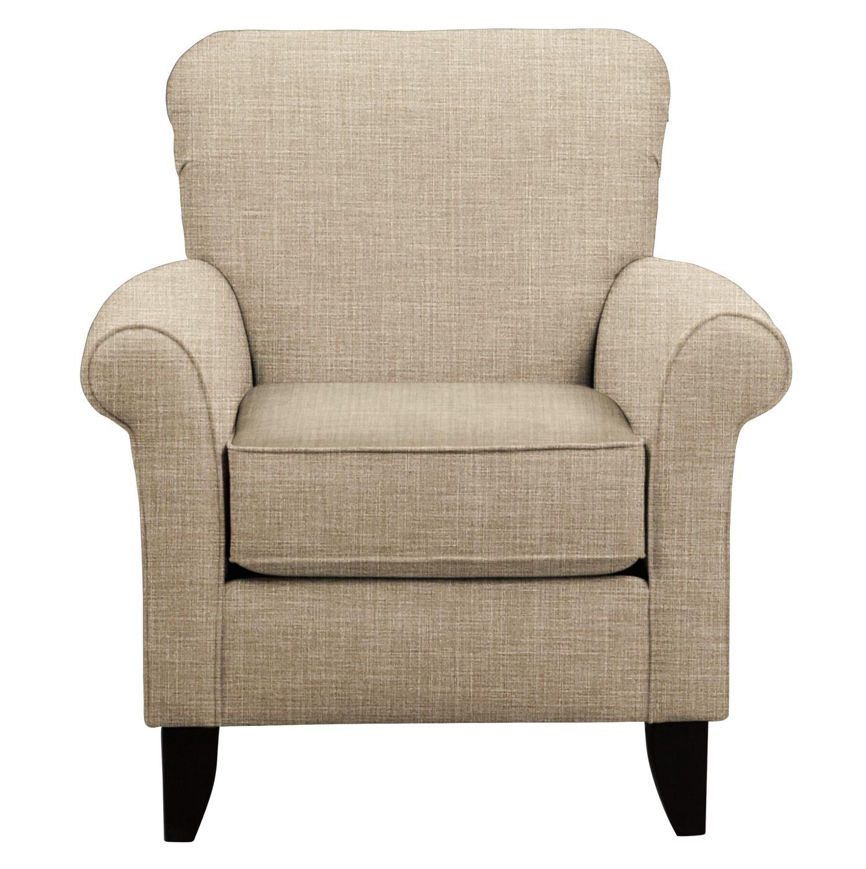 Tracy Chair w/ Milford II Toast Fabric