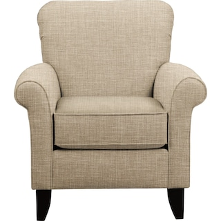 Tracy Chair w/ Milford II Toast Fabric