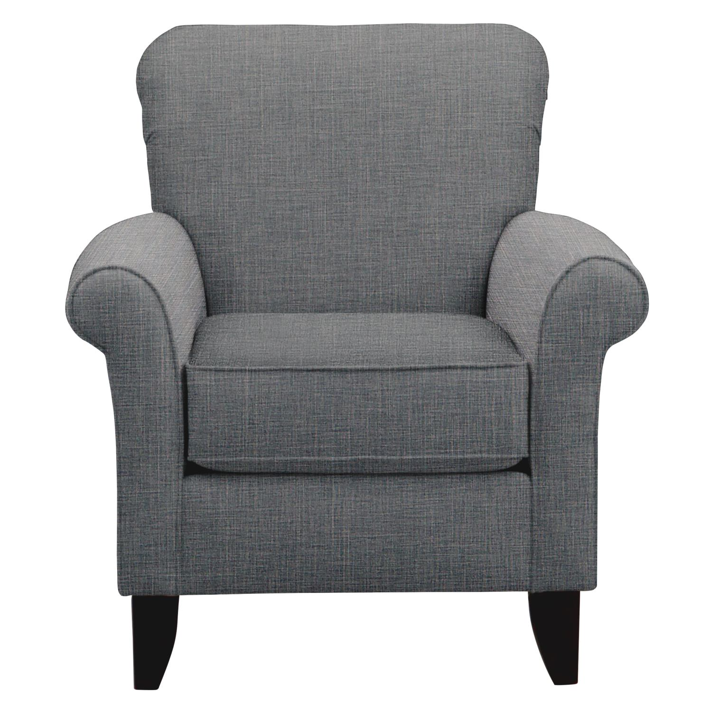 Tracy Chair w/ Milford II Charcoal Fabric