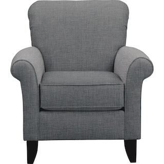 Tracy Chair w/ Milford II Charcoal Fabric