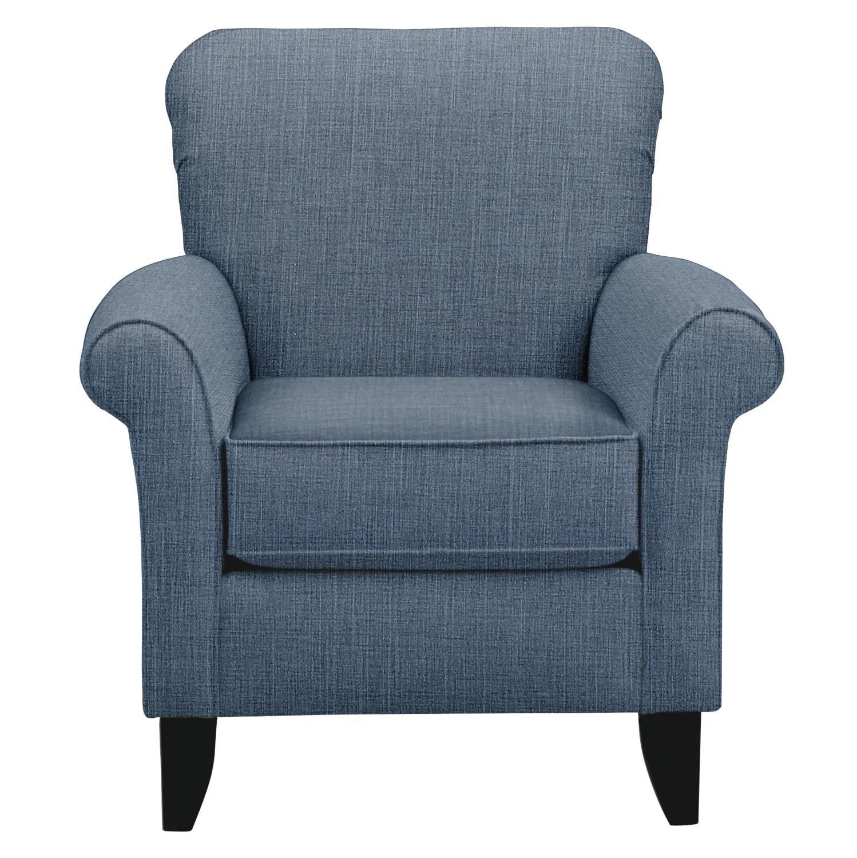 Tracy Chair w/ Milford II Indigo Fabric