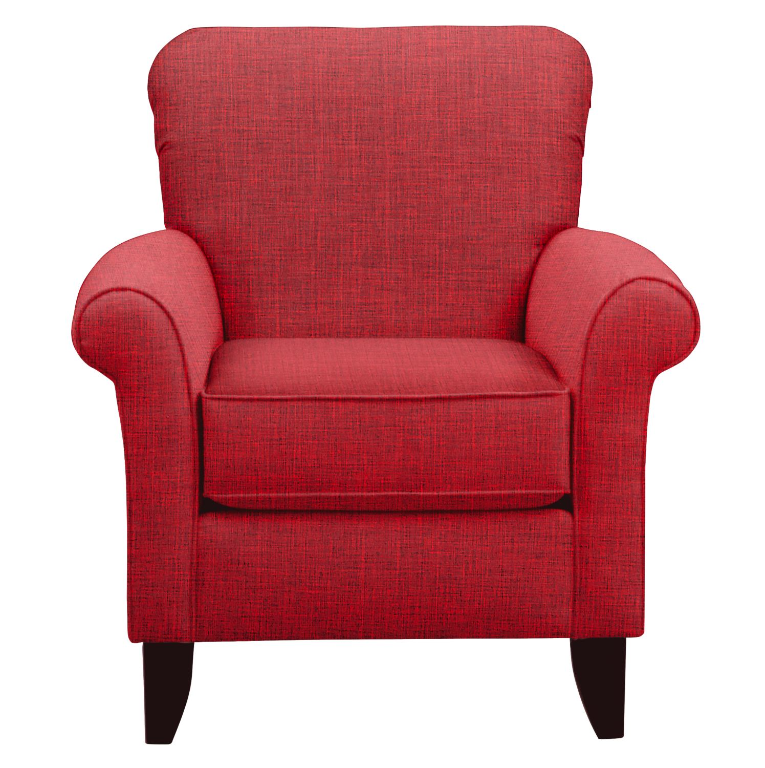 Tracy Chair w/ Milford II Red Fabric