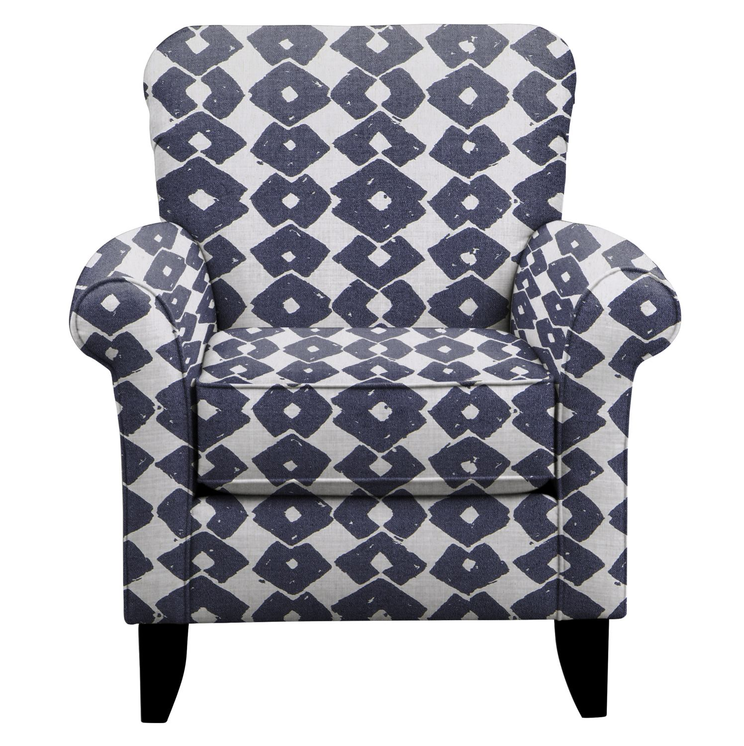 Living Room Furniture - Tracy Chair w/ Beechwood Indigo Fabric