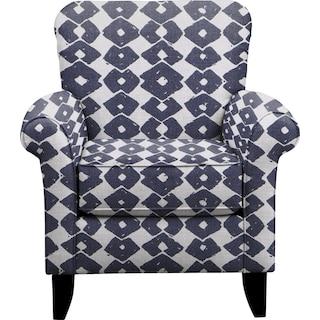 Tracy Chair w/ Beechwood Indigo Fabric