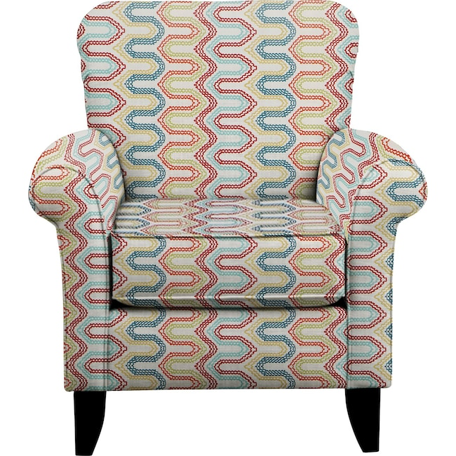 Living Room Furniture - Tracy Chair w/ Frilster Bohemian Fabric