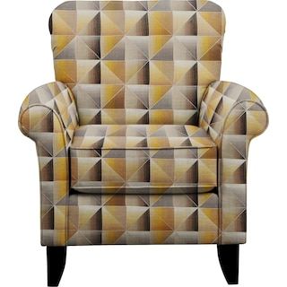 Tracy Chair w/ Immortal Lemoncello Fabric