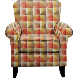 Tracy Chair w/ Immortal Sienna Fabric