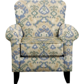 Tracy Chair w/ Blurred Lines Big Sky Fabric