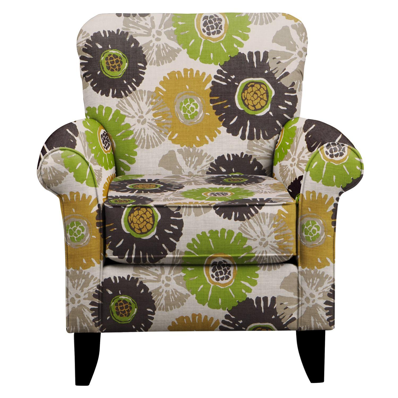 Tracy Chair w/ Star Burst Slate Fabric