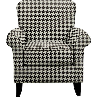 Tracy Chair w/ Watson Tuxedo Fabric