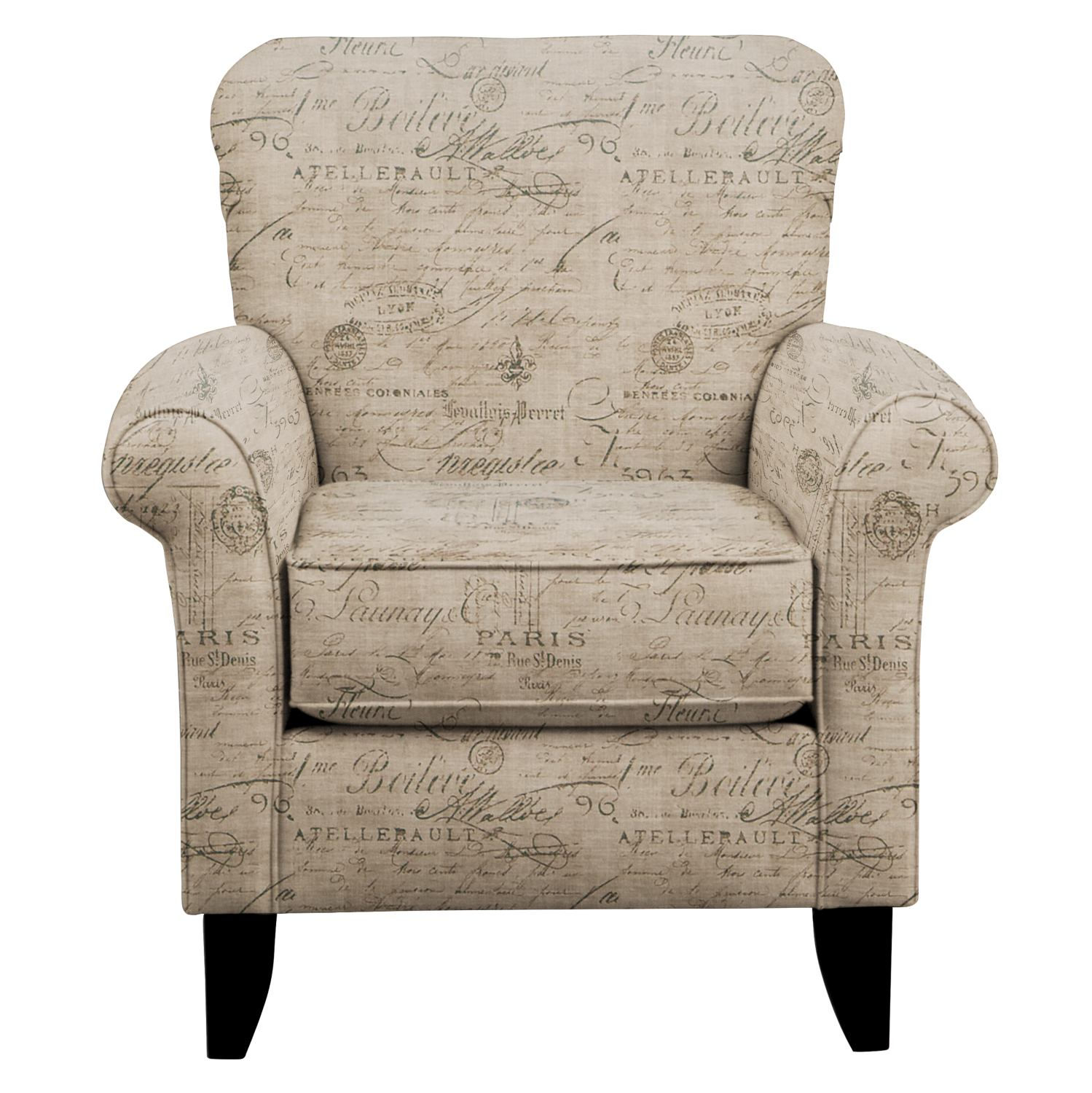 Living Room Furniture - Tracy Chair w/ Seine Gray Fabric