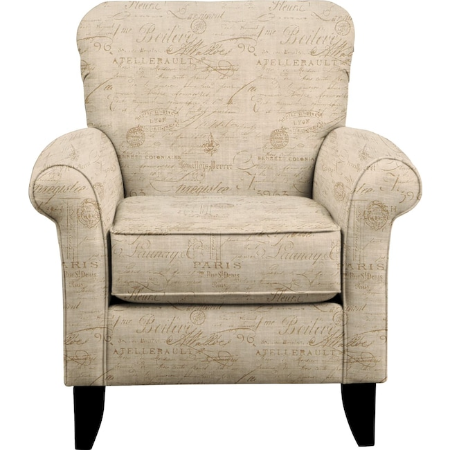 Living Room Furniture - Tracy Chair w/ Seine Mocha Fabric