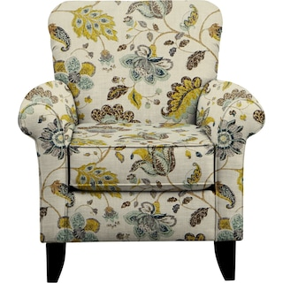 Tracy Chair w/ Spring Mix Aloe Fabric