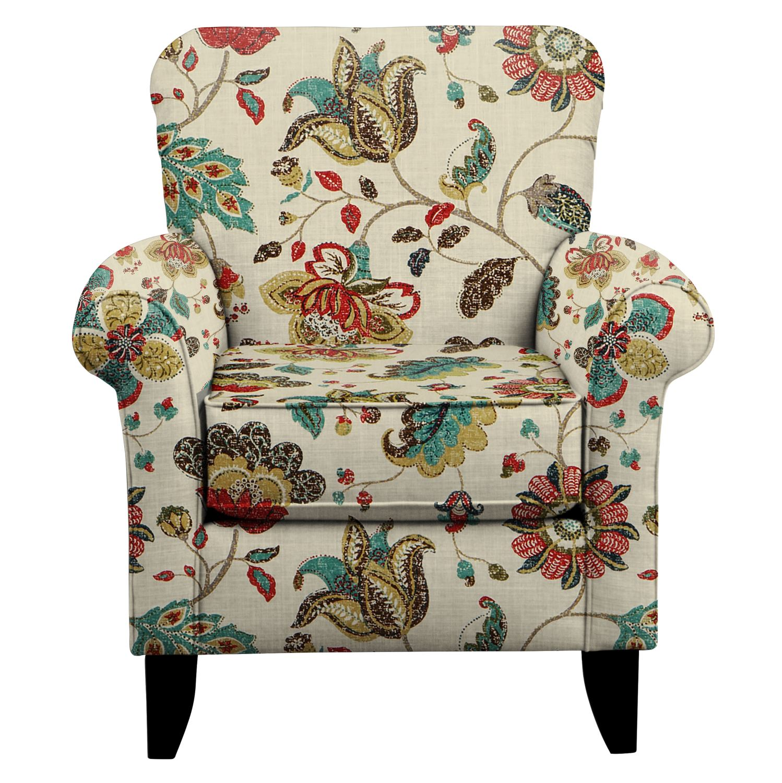 Tracy Chair w/ Spring Mix Poppy Fabric