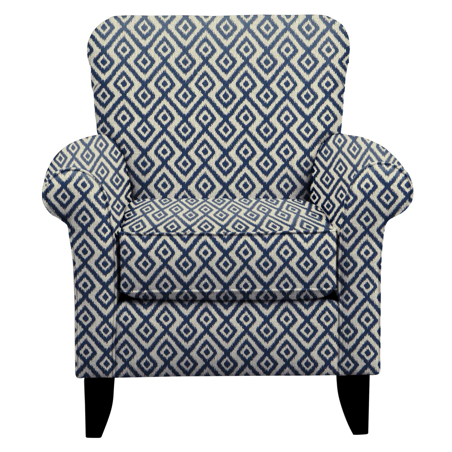 Living Room Furniture - Tracy Chair w/ Tate Indigo Fabric