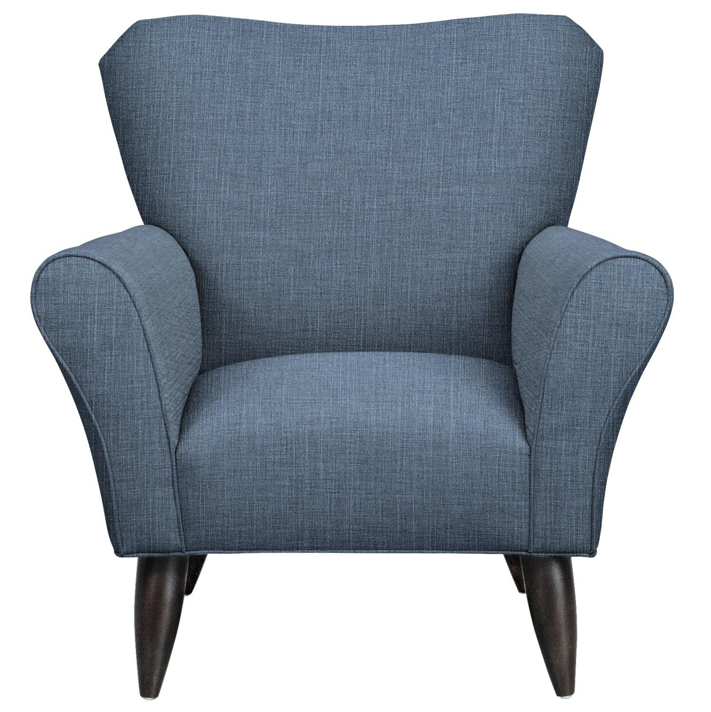 Jessie Chair w/ Milford II Indigo Fabric