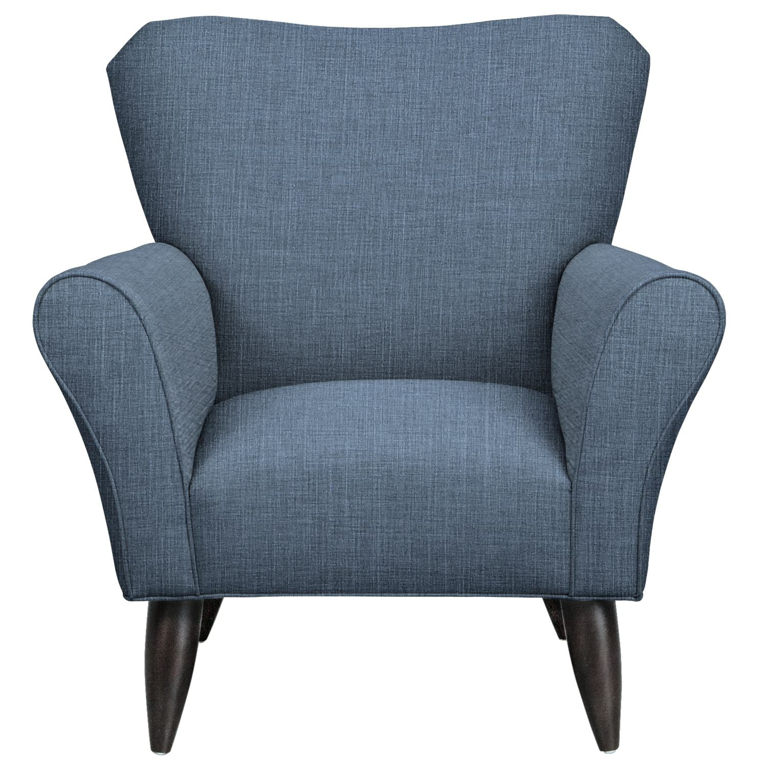 Living Room Furniture - Jessie Chair w/ Milford II Indigo Fabric