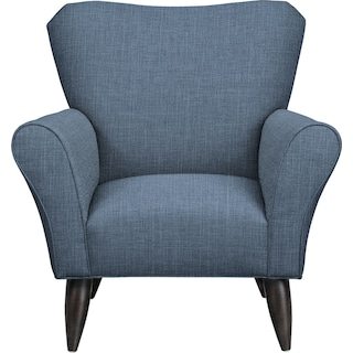 Jessie Chair w/ Milford II Indigo Fabric