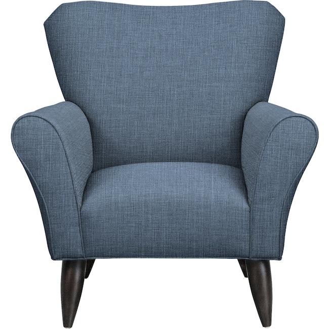 Living Room Furniture - Jessie Chair w/ Milford II Indigo Fabric