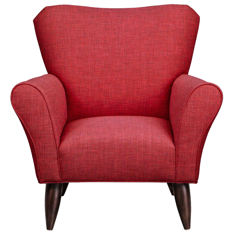Jessie Chair w/ Milford II Red Fabric