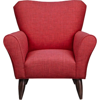 Jessie Chair w/ Milford II Red Fabric