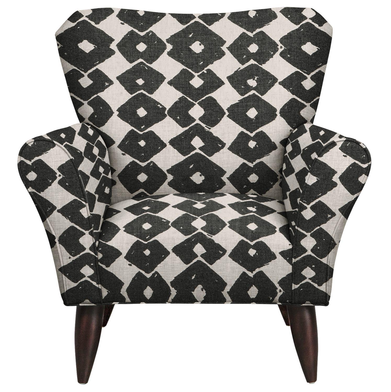 Living Room Furniture - Jessie Chair w/ Beechwood Granite Fabric