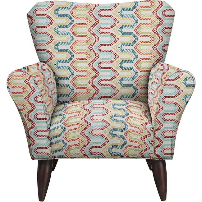Living Room Furniture - Jessie Chair w/ Frilster Bohemian Fabric