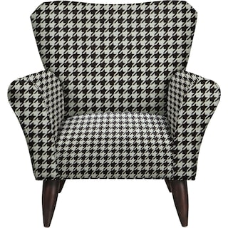 Jessie Chair w/ Watson Tuxedo Fabric