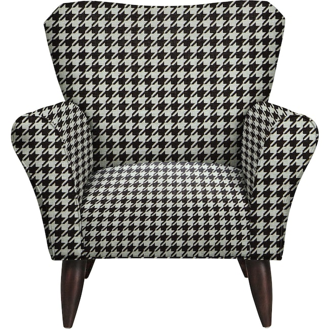 Living Room Furniture - Jessie Chair w/ Watson Tuxedo Fabric