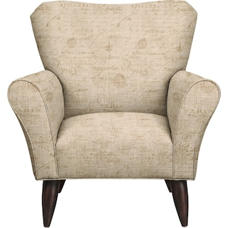 Jessie Chair w/ Seine Mocha Fabric