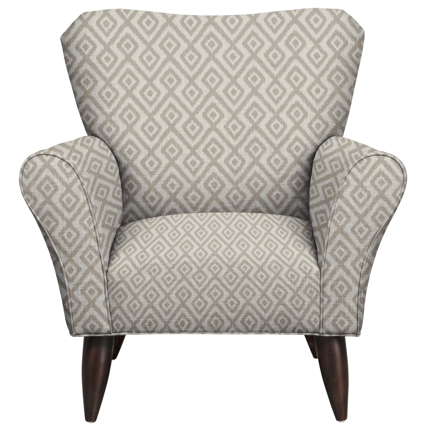 Living Room Furniture - Jessie Chair w/ Tate Dove Fabric