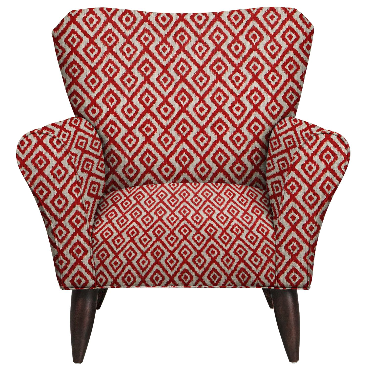 Living Room Furniture - Jessie Chair w/ Tate Red Fabric