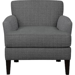 Marcus Chair w/ Depalma Charcoal Fabric
