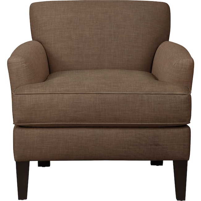 Living Room Furniture - Marcus Chair w/ Oakley III Java Fabric