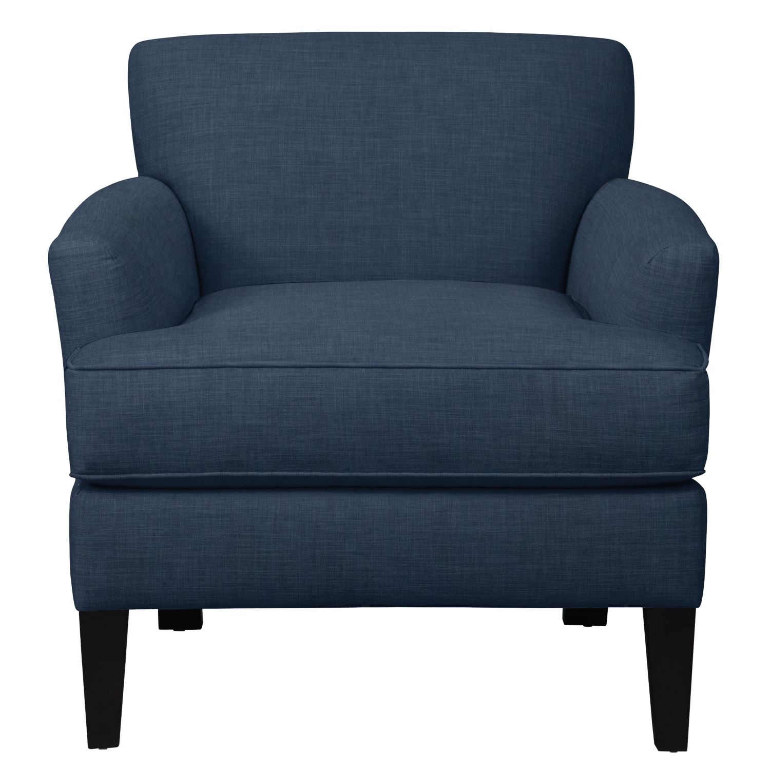 Living Room Furniture - Marcus Chair w/ Oakley III Ink Fabric
