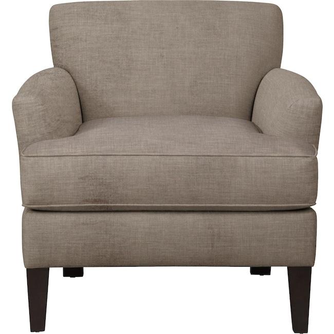 Living Room Furniture - Marcus Chair w/ Oakley III Granite Fabric