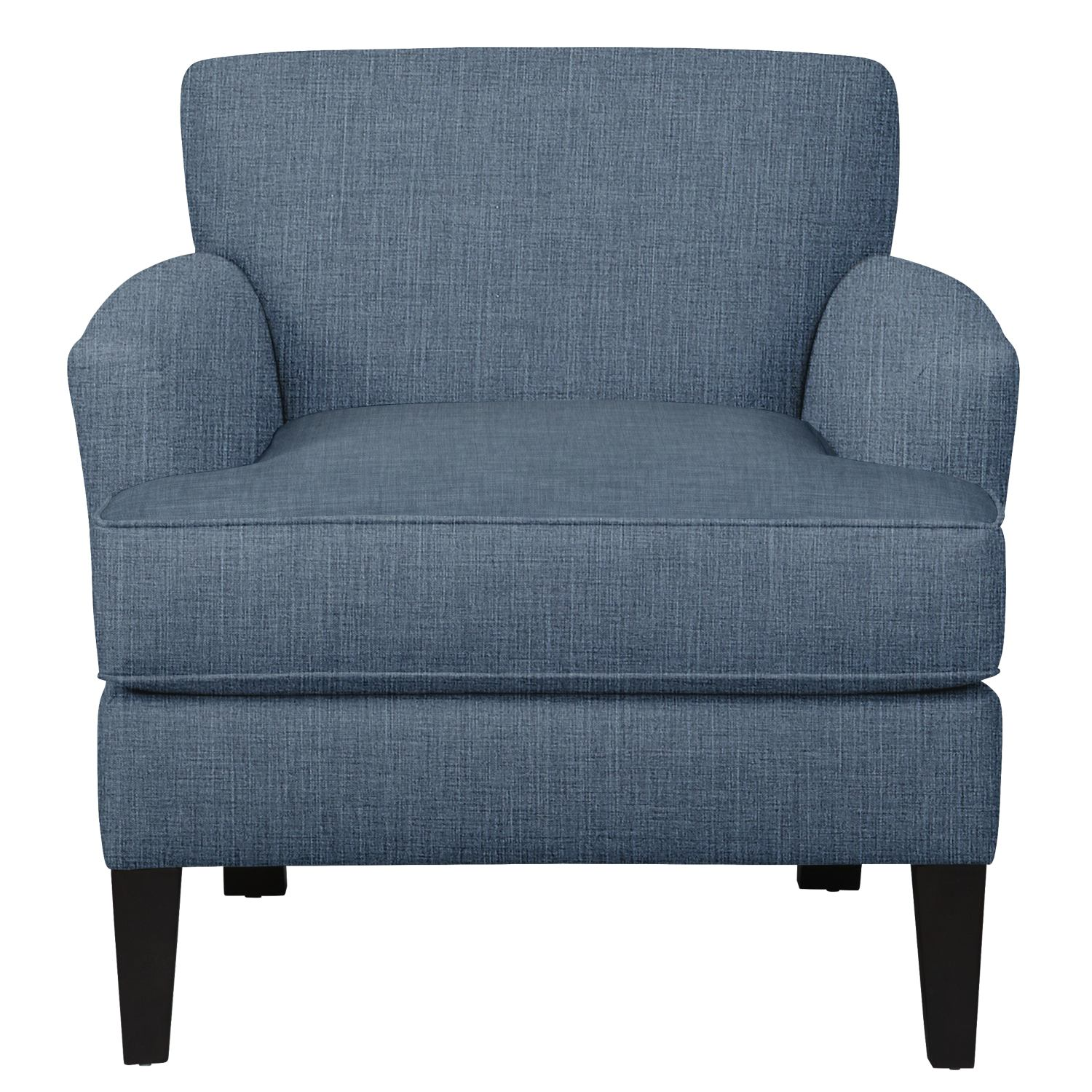 Living Room Furniture - Marcus Chair w/ Milford II Indigo Fabric
