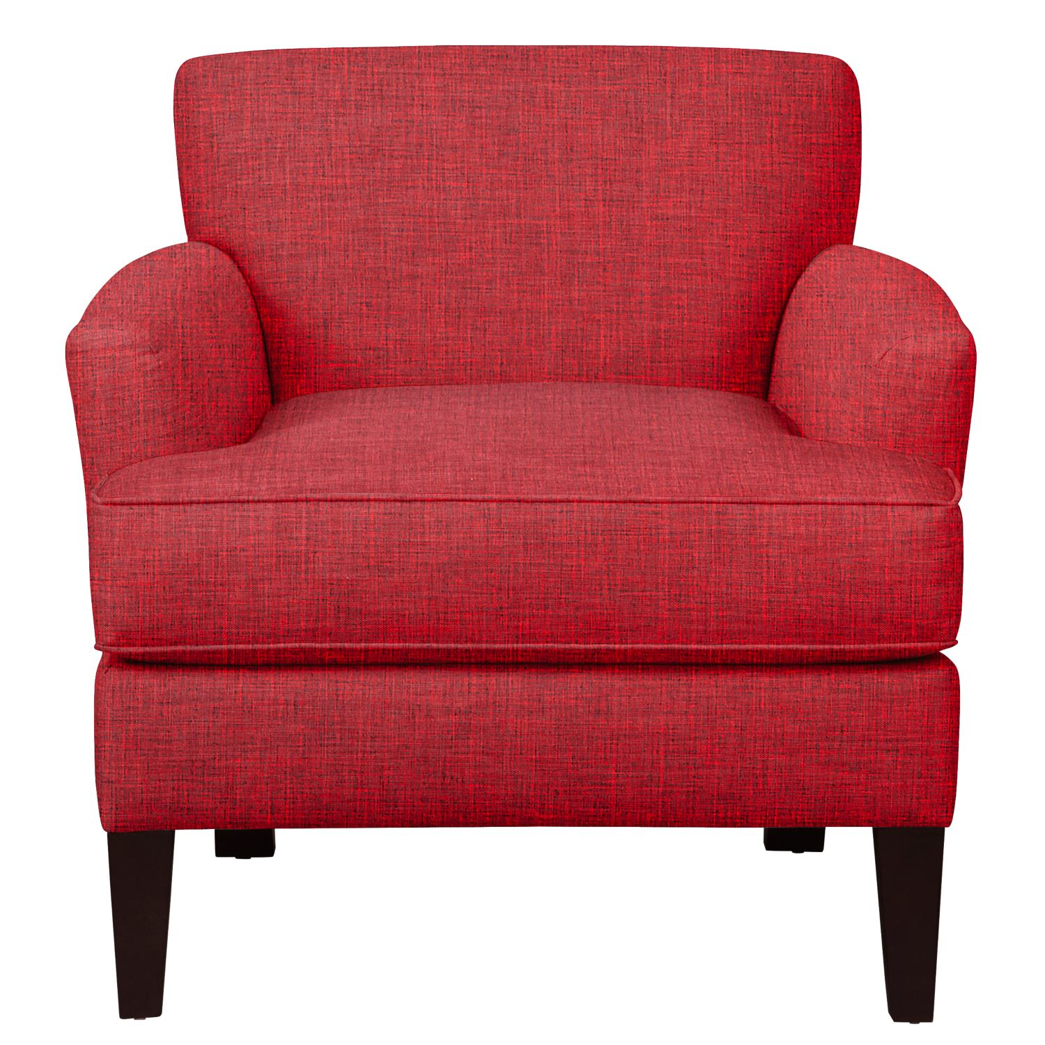 Living Room Furniture - Marcus Chair w/ Milford II Red Fabric