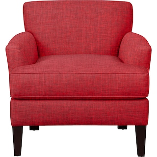 Marcus Chair w/ Milford II Red Fabric